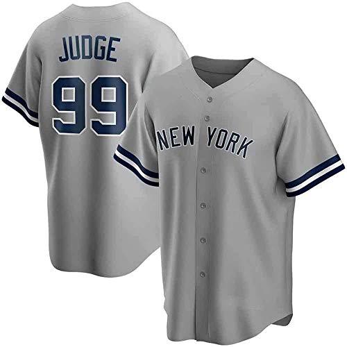 ZQN MLB-T-Shirt für Männer, Baseball-Shirt mit New York Yankees # 99 Richter Logo-Design Major League Baseball-Team Sportswear Fans Jersey gestickter Shirt Kurzarm Unisex,Grau,M