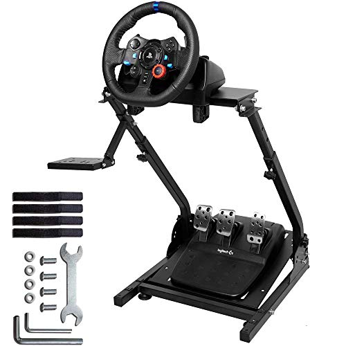 Wilk G29 Wheel Stand Pro 34''Height Adjustable Steering Wheel Stand for G25 G27 G29 Gaming Wheel Stand Thrustmaster Wheel and Pedals Not Included