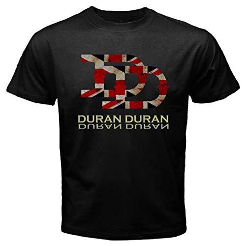 Men's Duran Duran Union Jack Black T-shirt, S to 3XL