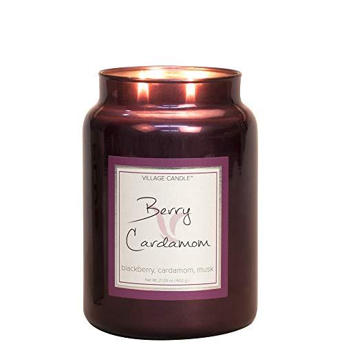 Village Candle - Duftkerze - Kerze - Metallic Line - Berry Cardamom - 626 g
