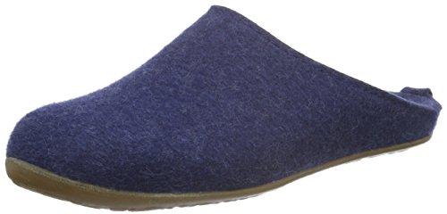 Haflinger Unisex-Erwachsene Everest Fundus Pantoffeln, Blau (Jeans 72), 39 EU