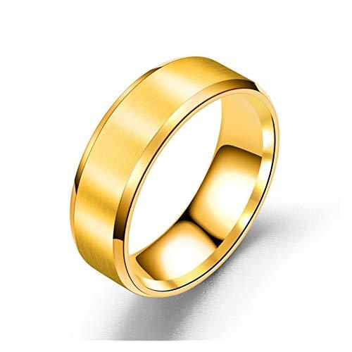 TZZD Cadena clásica giratoria para hombre, anillos de acero inoxidable, giratorio, 8 mm de ancho, anillos de moda para hombres y mujeres, joyería de regalo (color: E, tamaño: 11)
