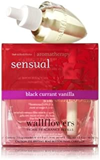 【Bath&Body Works/バス&ボディワークス】 ルームフレグランス 詰替えリフィル(2個入り) センシュアル ブラックカラントバニラ Wallflowers Home Fragrance 2-Pack Refills Sensual Black Currant Vanilla [並行輸入品]
