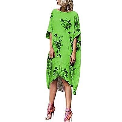 WENOVL T Shirt Dress,Women Summer Style Feminino Vestido O Neck Print Casual Plus Size Ladies Dress from