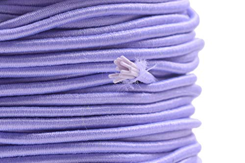 KONMAY 1 Roll 43 Yards 2.0mm Lavender Elastic Stretch Beading Cord Elastic String for Beading, Jewelry Making, Crafting, Clothing