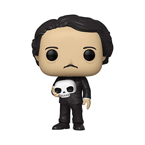 Funko- Pop Icons: Edgar Allen PoE w/Skull Figura Coleccionable, Multicolor (46774)