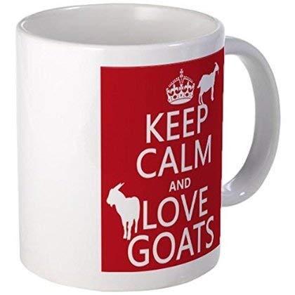 Taza - Guarde la calma y ame las tazas de las cabras - S blanco '