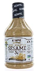 2016 Dressing of the Year Winner, Japanese Kewpie fukairi deep-roasted sesame dressing Great on chicken, fish, or any types kind of meat, Cold Pasta, Veggie Dip, Slaw Mix or Marinade Certified Non-GMO and Kosher; CONTAINS: EGG, SOY, WHEAT Large 32 oz...