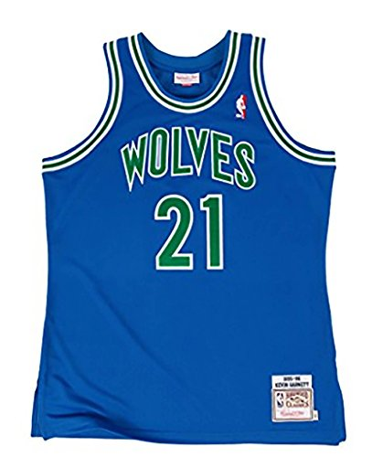 Mitchell & Ness Kevin Garnett 1995 Authentic Jersey Minnesota Timberwolves In Royal SMALL