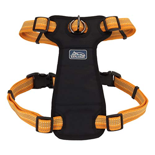 Coastal - K-9 Explorer - Brights Reflective Front-Connect Harness, Desert, 5/8' x 12'-18'