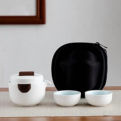 Ksnrang Black Tao Express Taza de té de cerámica Juego de té Taza portátil Juego de té de Viaje Juego de té Campaña Comercial Regalo Logotipo Personalizado-Taza de Jane.