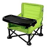 HSRG Kinder Klappstuhl, tragbarer Outdoor FoldingChair Multifunktions-Baby-Esszimmerstuhl für Camping, Heckklappen und Veranstaltungen im Freien,Green