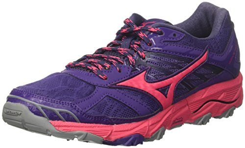 Mizuno Wave Mujin 4 Wos, Zapatillas de Running Mujer, Multicolor (Mulberrypurple/Azalea/Graystone 62), 37 EU