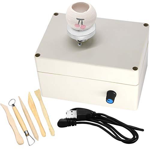 USB Mini Pottery Wheel Machine, 2000RPM Electric Clay Making...