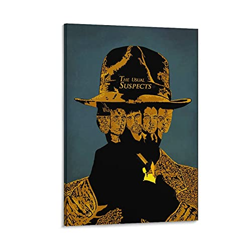 Póster de The Usual Suspects 9 Thriller Movie Poster Mystery Room Estético Impresión Arte de pared Decorativo Dormitorio Moderno Marco de Decoración Sin Marco 20 x 30 cm