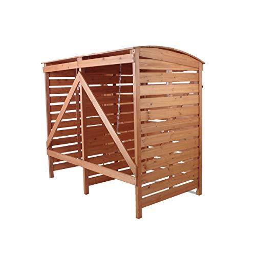 Mülltonnenverkleidung Holz Mülltonnenbox für 2 Mülltonnen 240l Müllcontainer - 7