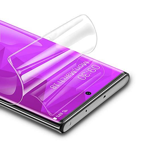 RIWNNI [3 Stück Schutzfolie für Samsung Galaxy Note 10 Plus, Ultra Dünn Weiche TPU Bildschirmschutzfolie (Nicht Panzerglas) HD Klar Bildschirmschutz Folie Full Screen für Samsung Note 10 Plus - Transparent