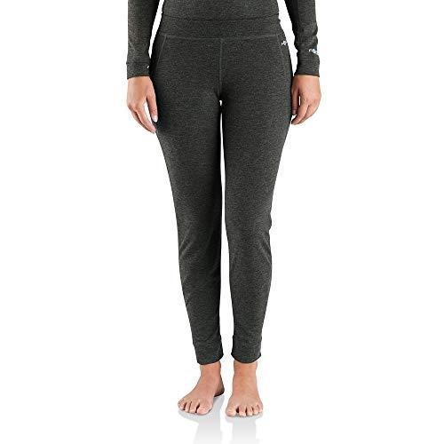 Carhartt Women's Force Heavyweight Thermal Base Layer Pant, Deep Black Heather, X-Large