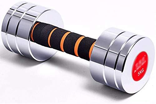 Mancuernas galvanizadas de acero inoxidable 5 kg desmontable equipo de fitness en el hogar unisex 5 kg un par = 2,5 kg * 2 / adecuado para principiantes ejercicio y fitness mancuernas