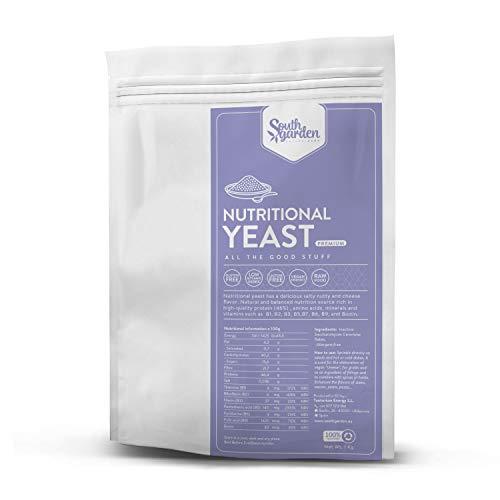 Lievito Alimentare Premium in Fiocchi - 250g | SOUTH GARDEN | Tutte vitamine del gruppo B | 46% Proteine | Vegano | Senza Glutine | Senza Latossio | Senza Zuccheri aggiunti