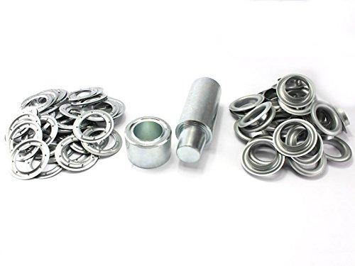 Einschlagstempel XXL 40 mm 20 Ösen Stahlösen verzinkt Ösenwerkzeug