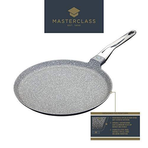 MasterClass Poêle à Crêpes Antiadhésive en Fonte d'Aluminium Compatible Plaque à Induction, 28 cm (11\