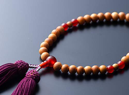 【お仏壇のはせがわ】 数珠 日本の木 一位メノウ正絹房ぶどう 婦人 日本製 じゅず どの宗派でも使用可能 女性用