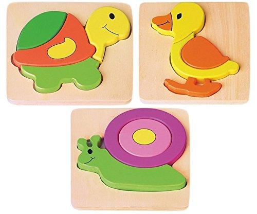 Joueco - Animaux Puzzle en bois (Canard)