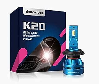 KOOMTOOM Mini Led Bulbs H4 Hi Lo Headlight Kits, 9003 HB2 Led Headlight Bulbs 5000K CREE Led Chip 360 Degree Beam Pattern 55W 8000Lm 1 Year Warranty
