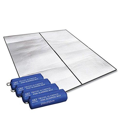 200x150cm Outdoor Camping Matte Anti-Feutigkeit Aluminium Doppelt Alumatte EPE-Schaum aluminiumbeschichtet Matratze Matten Auflage Aluminiumfolie Cushion