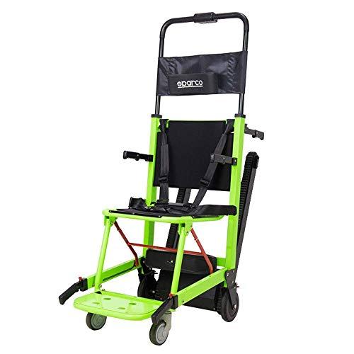 Inicio Accesorios Silla de ruedas eléctrica para personas mayores discapacitadas Cómoda y transpirable Silla de ruedas portátil plegable multifunción para subir y bajar escaleras Tipo de oruga (Gre