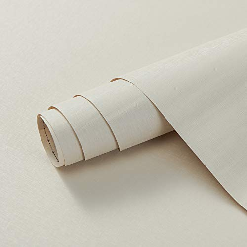 Coavas - Adesivi da parete autoadesivi per mobili, 40 x 300 cm, facili da applicare, adesivi per mensole da parete, tavolo, porta, soggiorno, colore: bianco crema