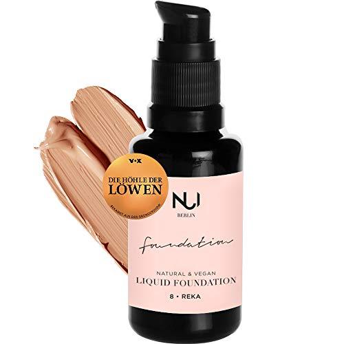 Naturkosmetik vegan natürlich glutenfrei Natural Liquid Foundation 08 REKA Make Up mit karamellbraunem Farbton