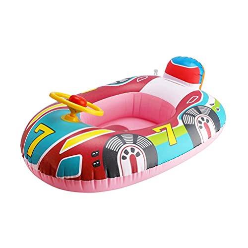Baby Schwimmring Boot Aufblasbar Lenkrad für Kinder mit Griff Baby Schwimmhilfe für 1-2 Jahre Kinder