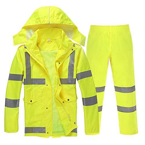 Traje de ropa impermeable al aire libre Poncho de lluvia Traje ropa impermeable con capucha impermeable de la lluvia del impermeable de la lluvia del impermeable Pantalón Impermeable Conjunto Impermea