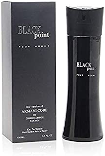 BLACK POINT, Eau de Toilette Spray for Men, Perfect Gift, Refreshing, Daytime and Casual Use, for all Skin Types, 3.4 Fl Oz