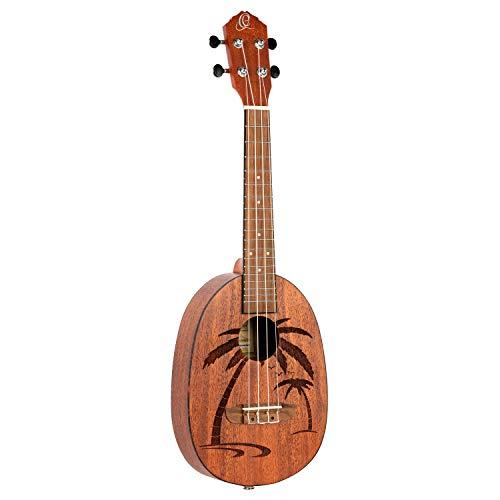 Ortega Guitars, 4-String Bonfire Series Pineapple Ukulele, Right-Handed, Acoustic, (RUPA5MM)