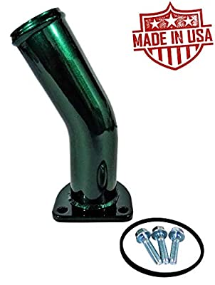HD Thermostat Housing Water Neck For 1994-1997 Ford Powerstroke 7.3L Turbo Diesel Made In USA (Emerald Green Metallic)