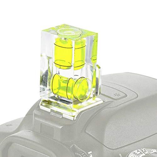 Nivel de nivel de zapata de flash de 2 ejes con tapa Hot Shoe Mount Cover Bubble Spirit compatible con SIGMA SD Quattro H DP0 DP1 DP2 DP3 SD1 cuatro Merril DP2X DP1X DP1S SD1 SD15 SD14 SD10 SD9