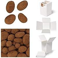 Bulk Gourmet Emporium - Nueces pecanas caramelizadas bañadas en chocolate con leche y espolvoreadas con cacao, producto vegetariano, halal y sin envase de plástico, 400 gr
