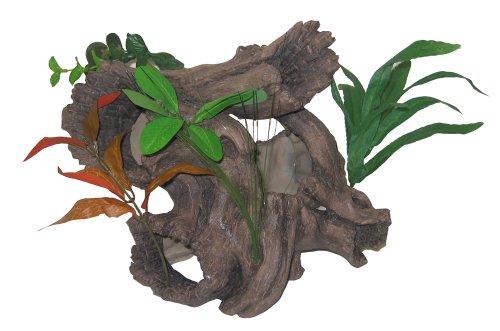 Hagen 12143 Marina Aquarium Deko, Baumwurzel mit Pflanzen, 26 x 15 x 17 cm