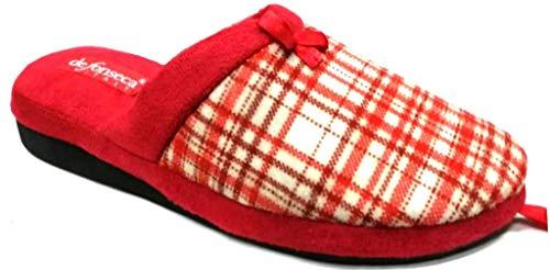 de fonseca Ciabatte Pantofole Invernali da Donna MOD. Verona W212 Rosso (39)
