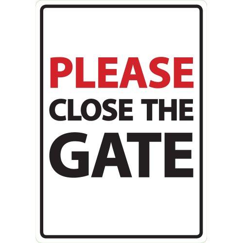 Sluit de poort A5 teken