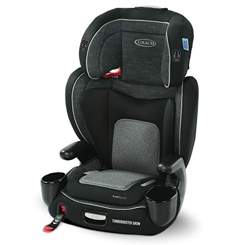 Graco TurboBooster Grow High Back Booster Seat Featuring RightGuide Seat Belt Trainer West Point