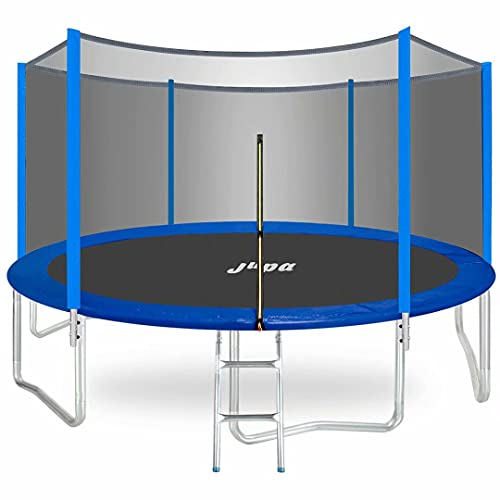 JUPA 425LBS Weight Capacity Kids Trampoline,15FT 14FT 12FT 10FT 8FT Outdoor Trampoline with Safety Enclosure Net All Accessories for Kids and Adults,ASTM Approved