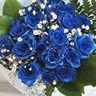 青いバラ 神秘的なブルーローズ プラチナの輝き 30本&カスミ草、グリーン付き バラの花束(生花) 【お祝い・記念日・誕生日・フラワーギフト・バラ】