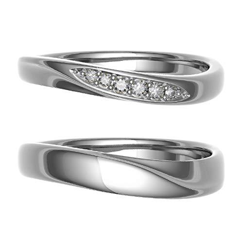 [ココカル]cococaru ペアリング 結婚指輪 シルバー 2本セット マリッジリング 日本製 (レディースサイズ13号 メンズサイズ10号)