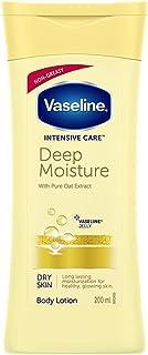 Vaseline Intensive Care Deep Moisture Body Lotion, Long Lasting Moisturisation For Healthy, Glowing Skin, 200 ml