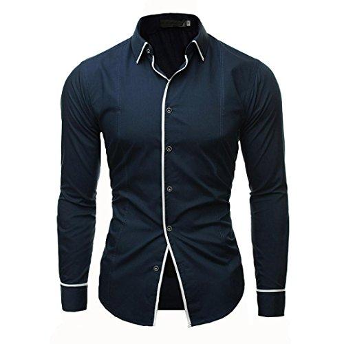 YunYoud Männer Shirt Fashion Einfarbig Männlichen Casual Langarm-shirt kurzärmelige hemden herren männerhemd kurzarm langarm extra kurz herrenhemden günstig online hemd