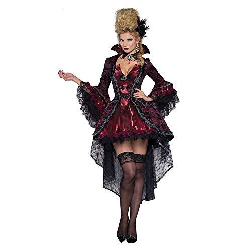 People-COS1 Vampire COS, Vestido De Cola De Golondrina Steampunk Victoriana Vintage para Mujer, Vestido De Bola, Novia Fantasma, Disfraz De rol,XXL